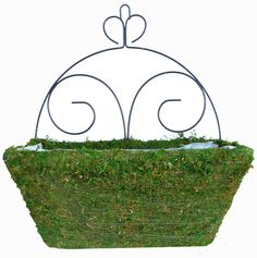 This planter is high including the scroll. The planter box is long, wide and deep. Planter Boxes, Planters, Moss Wall, Hanging Baskets, Artisan, Green, Diy, Products, Fall Hanging Baskets