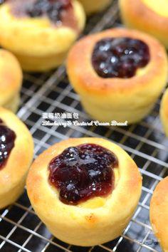 Blueberry & Custard Cream Bread  ( 蓝莓奶油面包 )