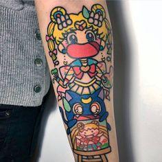 Sailor Moon tattoo by ! Sweet Tattoos, Cool Tattoos, Awesome Tattoos, Moon Watch, Tattoo Apprentice, Bob Ross, Body Modifications, Beautiful Tattoos, Tattoo Inspiration