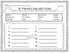 Lucky Leprechauns! St. Patrick's Day Word Work