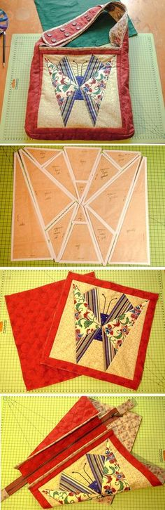 "How to make Patchwork Bag ""Butterfly"". Step by step photo DIY tutorial.  http://www.handmadiya.com/2015/11/patchwork-bag-butterfly.html"