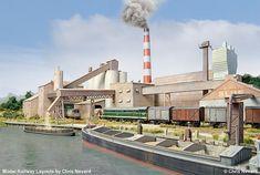N Scale Model Trains, Model Train Layouts, Scale Models, Industry Models, Model Railway Track Plans, Ho Trains, Ho Scale, Design Model, Cement