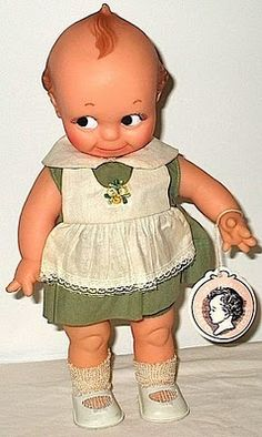 Kewpie Doll....I just couldn't imagine waking up in the middle of the night and seeing that face.....retro version of  Chuckie.....