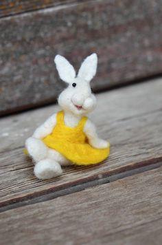 Bear Creek Bunny needle felted by Teresa Perleberg