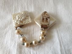 Napkin Rings, Pearl Earrings, Plastic, Pearls, Vintage, Collection, Jewelry, Decor, Fashion