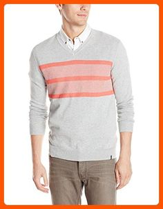Calvin Klein Men's Cotton Modal Links Sweater, French Coral Heather, Medium - Mens world (*Amazon Partner-Link)