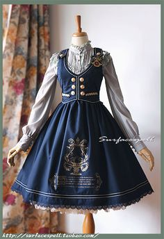 """Lolita clothing refers to clothing based on Gothic, sweet and retro styles. Lolita clothing is usually designed on the basis of """"dolly-like"""" lace, lace, lace Kawaii Fashion, Cute Fashion, Vintage Fashion, Mode Lolita, Lolita Style, Gothic Lolita Fashion, Gothic Fashion, Pretty Dresses, Beautiful Dresses"""