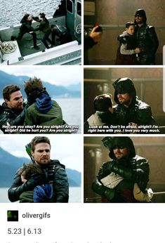 OH, How Much Has Changed and How Their Relationship Has Grown...But The Way Oliver Holds and Protects His Son From Villains Has Stayed The Same #HoodDownvs.HoodUp