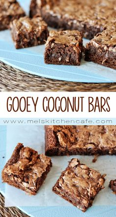 These Gooey Coconut Chocolate Bars are the perfect marriage of brownie and German chocolate madness.