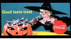 We've picked out some vintage Coca Cola advertising with a Halloween twist, see the spooktacular adverts from our archives. Vintage Coca Cola, Coca Cola Ad, World Of Coca Cola, Vintage Candy, Vintage Holiday, Retro Halloween, Halloween Prints, Halloween Images, Spooky Halloween