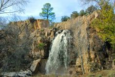 Silver City New Mexico Attractions | Bear Canyon dam waterfall. Membres Valley