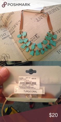NWT turquoise blue stones necklace Brand New with tags turquoise stone necklace sku 897 Jewelry Necklaces