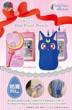 Sailor Moon Wand & Luna Drip Proof Pouch
