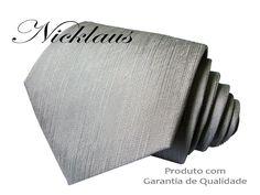Gravata Prata alto Relevo N74ac