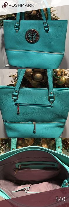 Large handbag Turquoise beautiful new handbag.. large Bags Satchels