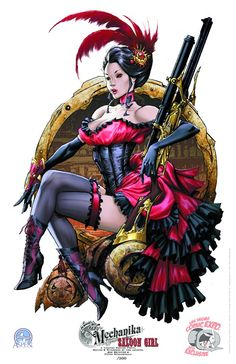 Lady Mechanika SALOON GIRL Limited Edition Print by Joe Benitez