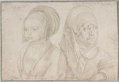 Albrecht Dürer, Bildnisse eines Mädchens in kölnischer Tracht und Agnes Dürers, 1521 © Albertina, Wien