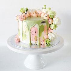 Matcha & Black Sesame Cake