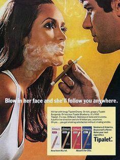 L'ancêtre des pubs AXE ou comment la cigarette est remplacée par du déo.