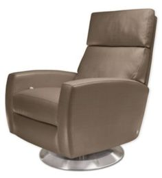 Ella, American Leather  modern swivel recliner chair
