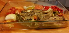 Escalibada: onions, eggplants, red peppers, green peppers and tomatoes. Cooked by Azhar Media, audiovisual production company (Seville, Andalusian, Spain)