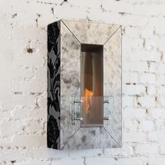Mirror Wall Vertical Firespace
