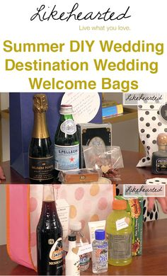 Diy Destination Wedding Gift Bags : ... Wedding Ideas on Pinterest Calla Lilies, Welcome Bags and Wedding