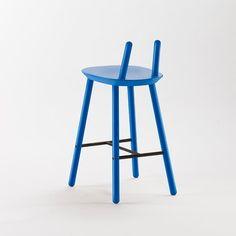 Naive Semi Bar Stool, Blue -  - Stool - EMKO - Space & Shape - 4