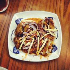 "@ngjiaxun's photo: ""Thai style mango chicken #foodporn #foodpwn"""