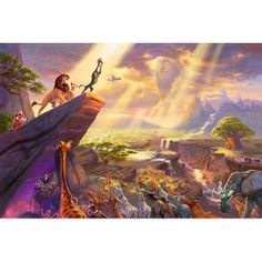 one of thomas kinkade disney paintings