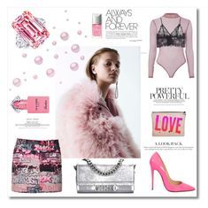 """""""pink thing"""" by aniadratwicka on Polyvore featuring Giamba, Christian Louboutin, Topshop, Anine Bing, Moschino, Christian Dior and Guerlain"""