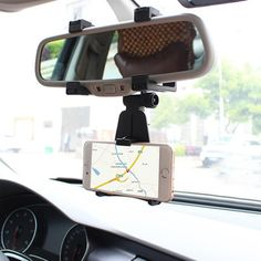 Auto Car Rearview Mirror Mount Stand Holder Cradle For All Cell Phone GPS #clothing,#shoes,#jewelry,#women,#men,#hats,#watches,#belts,#fashion,#style