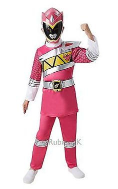 #Rubie's pink power rangers dino charge kids #girls #costume new 2016,  View more on the LINK: http://www.zeppy.io/product/gb/2/111912907161/