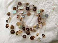 Italian mother of pearl shell necklace vintage