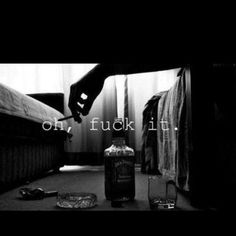 Jack Daniels<3 this will be me every morning!! Trashing motel after motel \m/