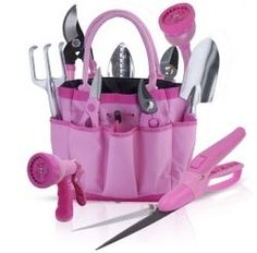 """Pink Garden Tools & Gift Sets """"Garden For The Cause"""" Garden Tools Huge Selection From The Pink Superstore - Yard and Garden Decor From The Pink Superstore Pink Love, Pretty In Pink, Plant Design, Garden Design, Garden Tool Set, Pink Garden, Dream Garden, Shops, Bright Flowers"""