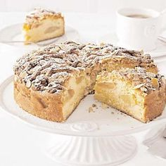 This Swiss apple cake with marzipan fits perfectly on any coffee table. The delicious baking recipe can be found here. We wish a good appetite! Baking Soda Slime, Baking Soda Face, Banana Bread Recipes, Cake Recipes, Marzipan Cake, Dessert From Scratch, Best Apple Pie, Apple Pies, No Bake Bars