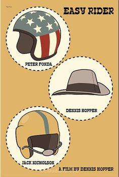 Easy Rider (1969) - Minimal Movie Poster by Claudia Varosio #minimalmovieposter #alternativemovieposter #60smovies #claudiavarosio