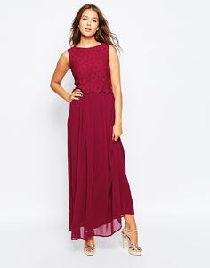 Image 1 ofClub L Lace Overlay Maxi Dress