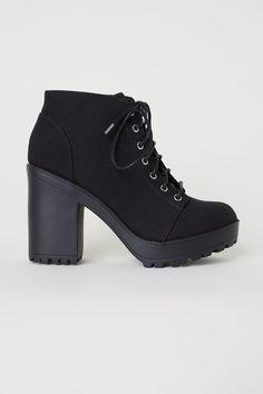 5250af1a3bd Platform Ankle Boots - Black - Ladies
