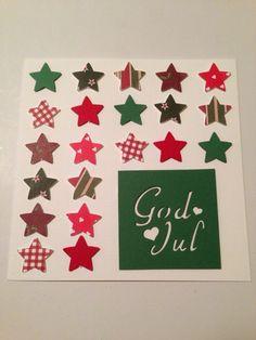 Julkort med stjärnor