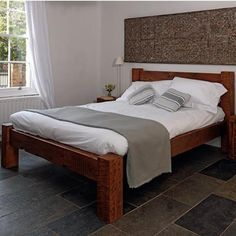 Sweet Dreams English Beam Reclaimed Wood Bed -  Modish Living Reclaimed wood bed