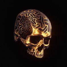 † Memento Mori II † on Behance Black And Gold Aesthetic, Skull Reference, Arte Horror, Human Skull, Dark Photography, Crystal Skull, Vanitas, Nose Art, Skull And Bones