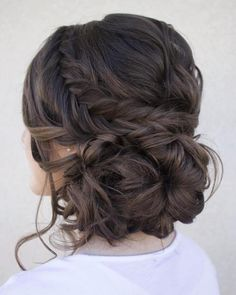 Loose Low Updo With Fishtail
