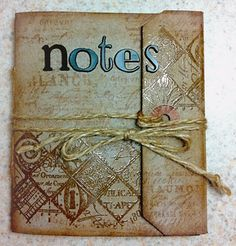 Kraft Tag Notes Book | Wendy Schultz - Gift Wraps, Cards, Tags. Bows & Bags.