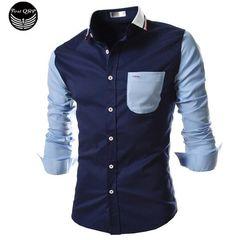 Men Long Sleeve Shirt Chemise Homme Men Shirt Camisas Hombre Vestir Mens