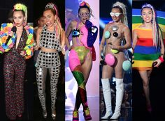 All of Miley Cyrus' Wildest, Most Outrageous (or Otherwise Naked) Outfits From the 2015 MTV VMAs?Take a Look! | E! Online Mobile