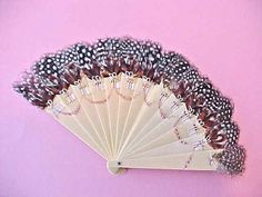 Gorgeous Art Nouveau Era Celluloid Hand Fan by Moonmaidenemporium, $75.00