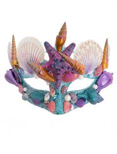 Haarreif Meerjungfrau mit Blumen Seepferdchen und Muschel Kostümzubehör