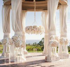 Glamorous wedding ceremony idea; Photographer: Victor Sizemore